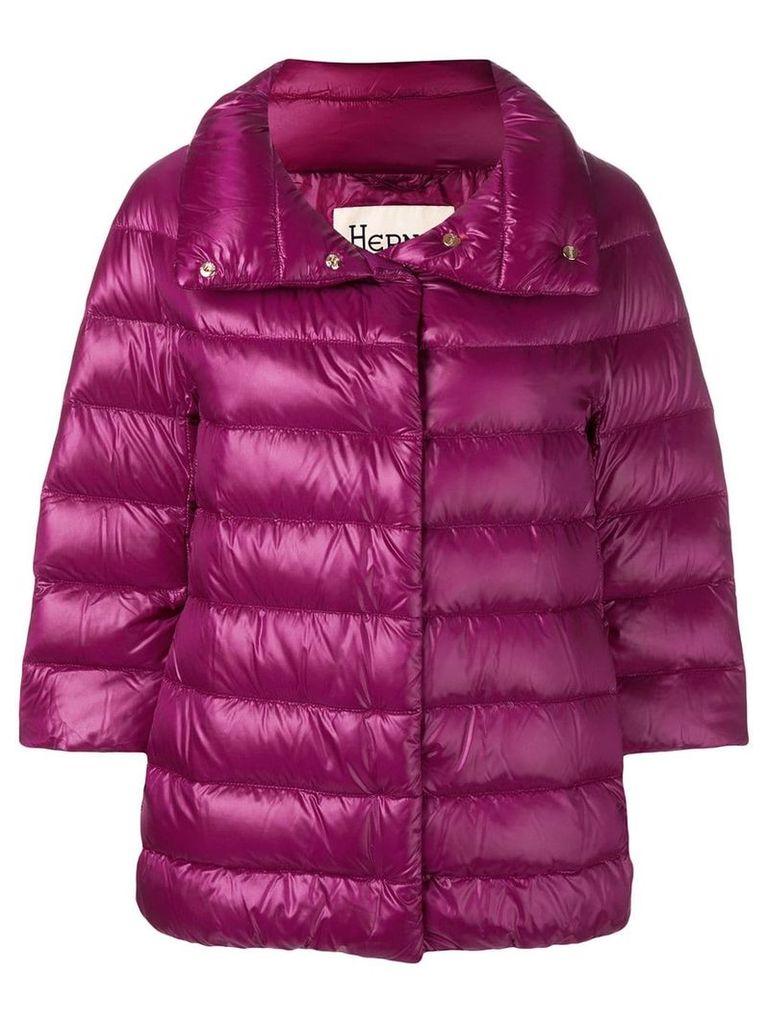 Herno zipped padded jacket - Purple
