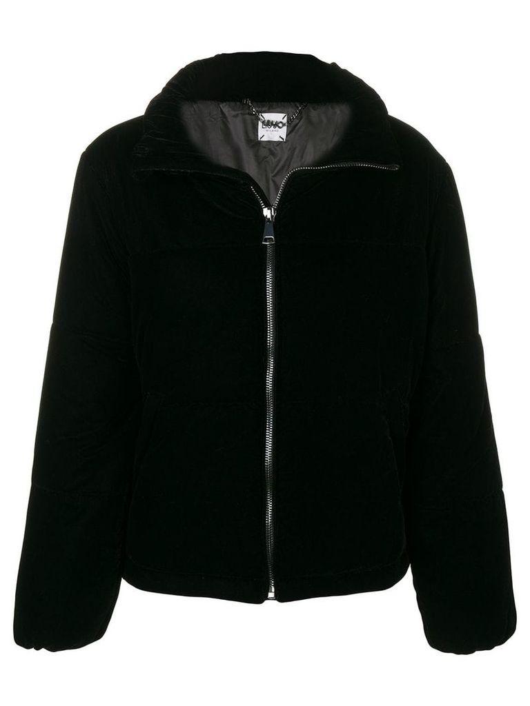Liu Jo velvet puffer jacket - Black