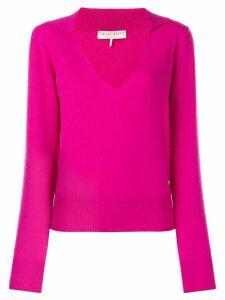 Emilio Pucci Fuchsia Cashmere Polo Jumper - Pink