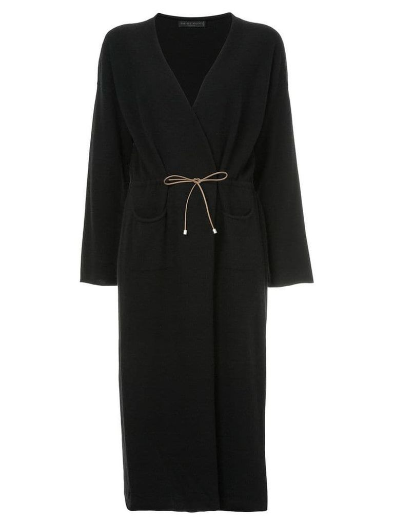 Fabiana Filippi long cashmere cardigan - Black