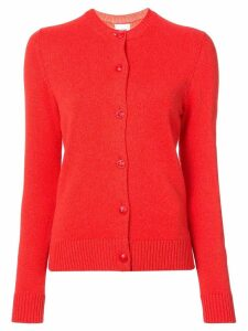 Barrie round neck cardigan - Red