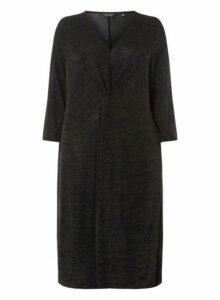 Womens **Dp Curve Bronze Shift Dress- Black, Black