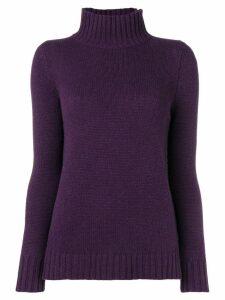 Aragona turtle neck jumper - Purple