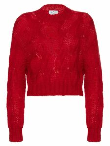 Prada Cropped mohair sweater - Red