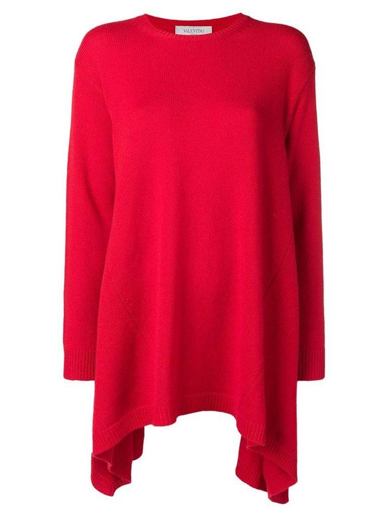 Valentino asymmetric cashmere jumper - Red