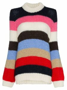 Ganni Julliard striped knitted jumper - Blue
