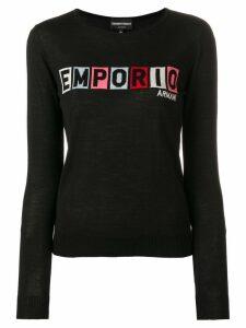 Emporio Armani logo jumper - Black
