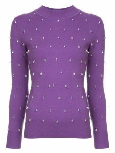 Huishan Zhang crystal embellished sweater - Purple