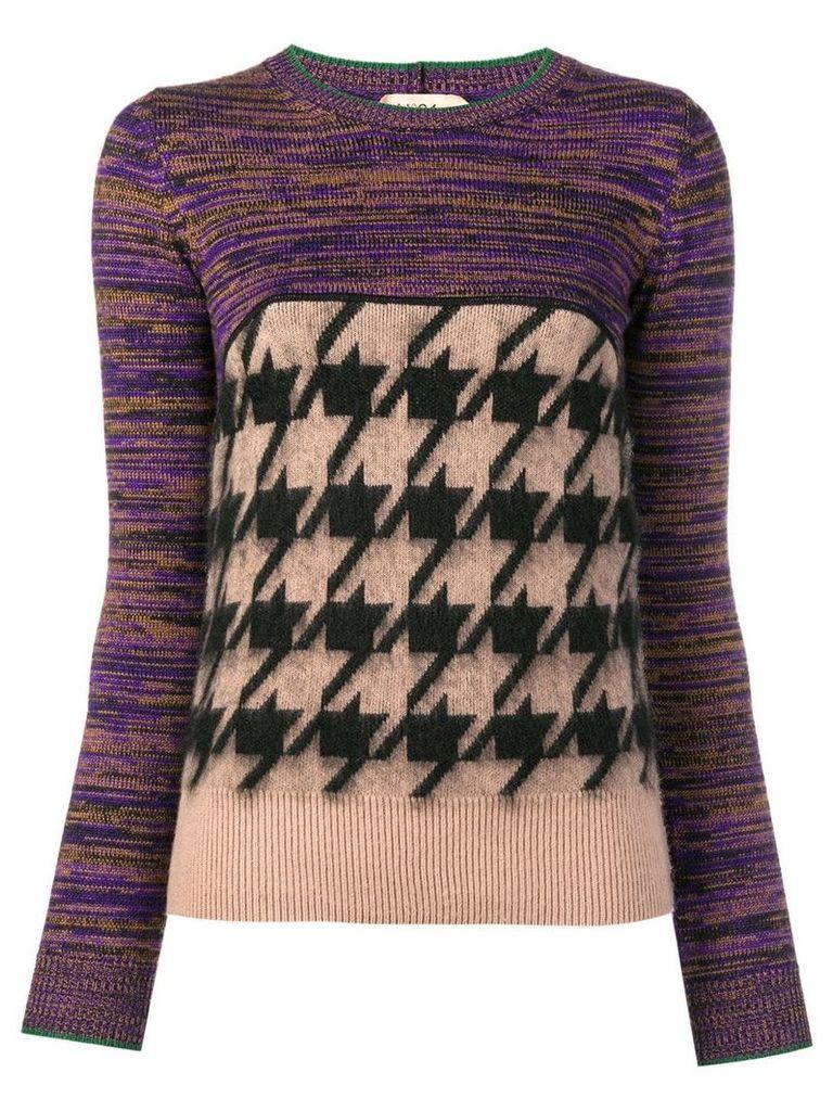 Nº21 mixed pattern jumper - Neutrals