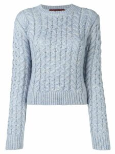 Sies Marjan thatched cable sweater - Blue