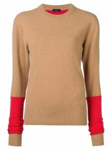 Joseph two tone knit sweater - Brown