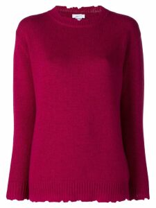 Avant Toi distressed crew neck sweater - Pink