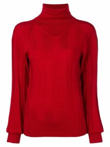 Joseph turtleneck ribbed sweater - Red