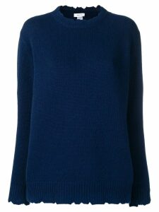 Avant Toi distressed crew neck sweater - Blue