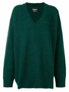 Calvin Klein 205W39nyc V-neck ribbed jumper - Green