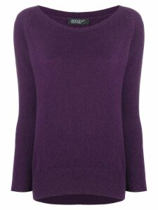 Aragona cashmere scoop neck sweater - Purple