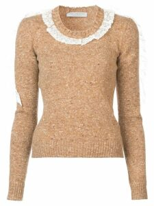 Philosophy Di Lorenzo Serafini ruffle sweater - Brown