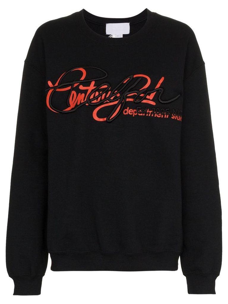 Telfar graphic print cotton jumper - Black