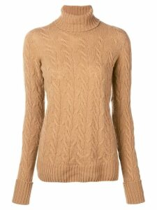 Drumohr cable knit turtle neck sweater - Neutrals