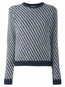 Julien David striped jumper - Blue