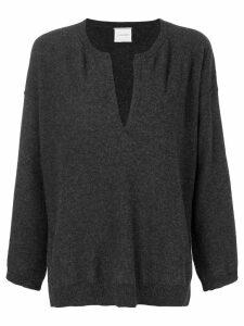 Fine Edge v-neck sweater - Grey