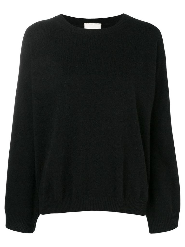 Fine Edge classic cashmere sweater - Black
