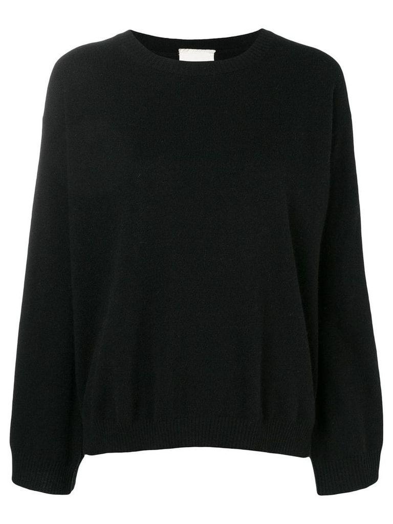 Fine Edge classic cashmere sweater - Black
