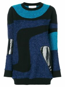 Gianluca Capannolo patched marble knit sweater - Multicolour
