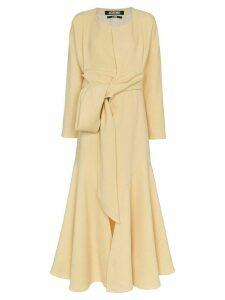 Jacquemus twist front maxi dress - Yellow