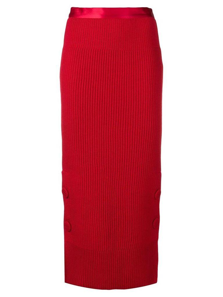 Maison Flaneur knitted skirt - Red