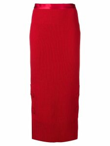 Maison Flaneur knitted skirt - Red
