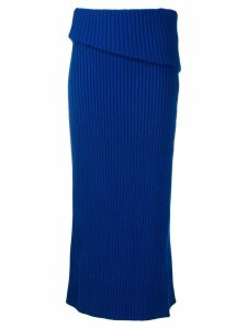 Jacquemus folded knitted skirt - Blue