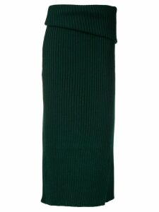 Jacquemus folded knit skirt - Green