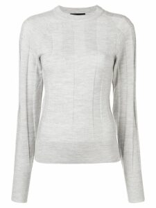 Joseph fitted knit top - Grey