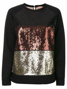 Nº21 sequined sweatshirt - Black