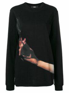 Yang Li printed cigarette sweatshirt - Black