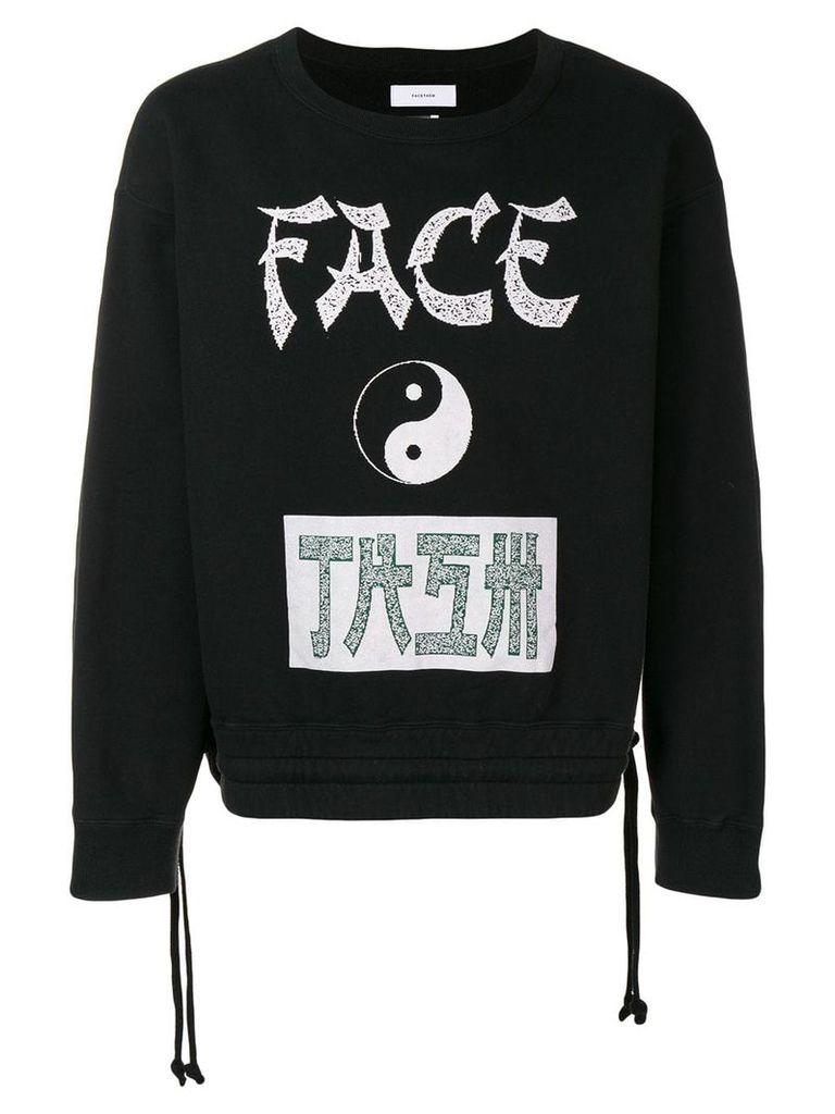 Facetasm logo print sweatshirt - Black