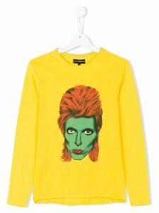 John Richmond Junior David Bowie print top - Yellow