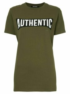 Neil Barrett slogan print T-shirt - Green