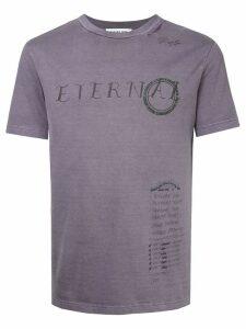 Ground Zero Eternal distressed T-shirt - Purple