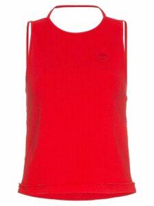 Telfar sleeveless halter neck t-shirt - Red