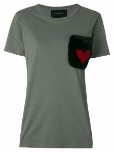 Mr & Mrs Italy fur pocket T-shirt - Green