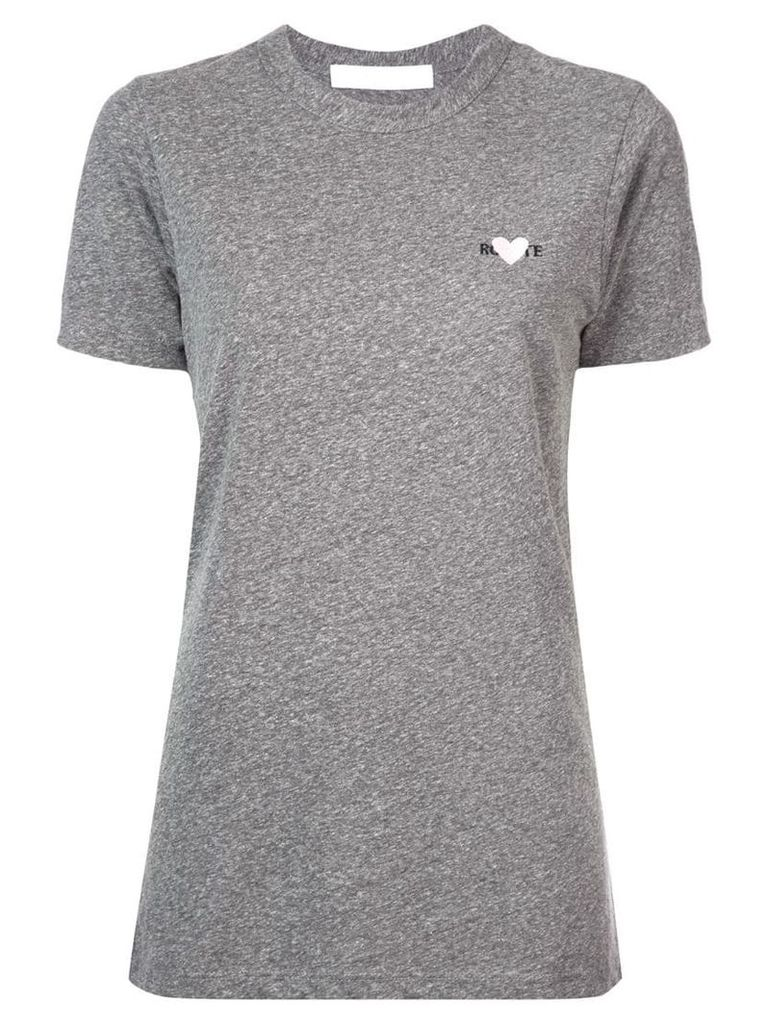 Rodarte embroidered heart T-shirt - Grey