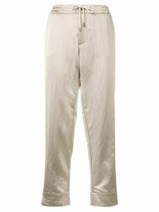 Berwich straight cropped trousers - Neutrals
