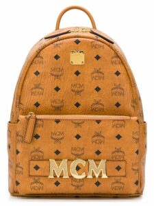 MCM printed logo backpack - Brown