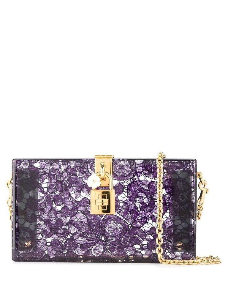 Dolce & Gabbana Dolce Box clutch - Purple