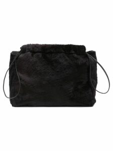 Jil Sander faux fur clutch bag - Black