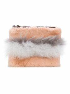 Mr & Mrs Italy top zip clutch - Pink