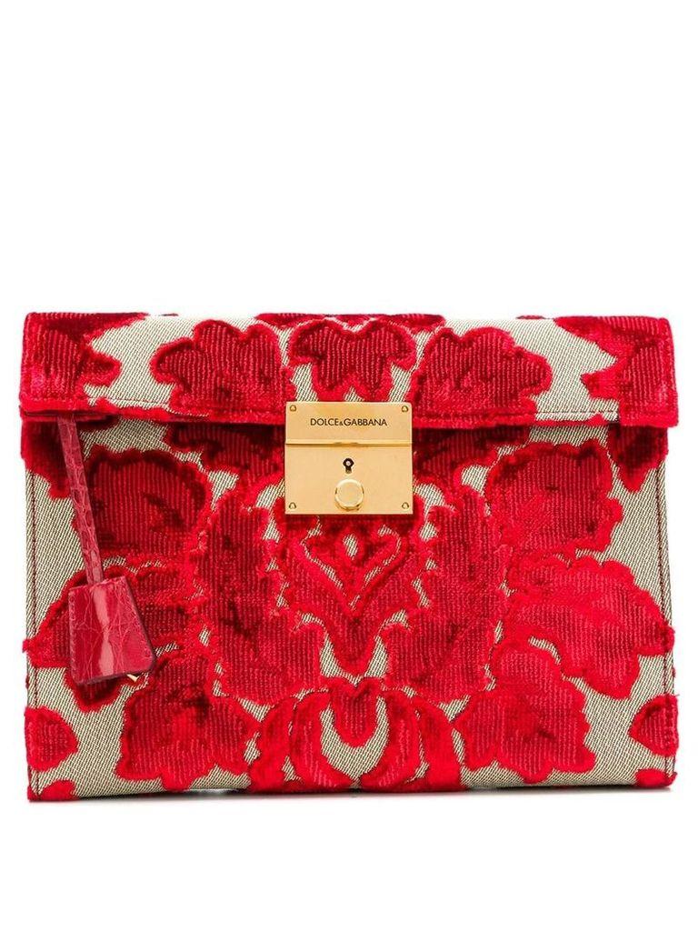 Dolce & Gabbana brocade clutch - Red