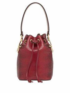 Fendi mini Mon Tresor bucket bag - Red